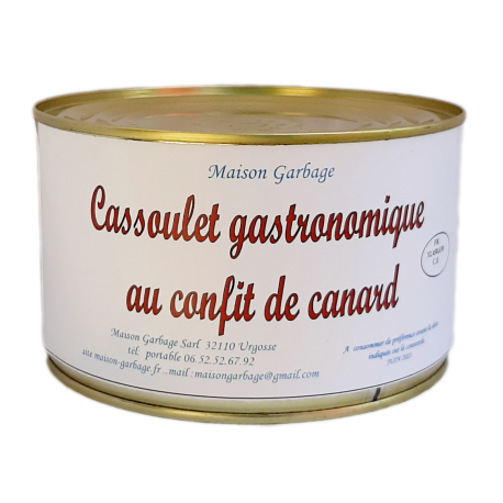 Cassoulet gastronomique 3 parts 1500 g