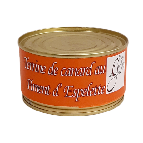 Terrine de canard au piment d' Espelette 190g